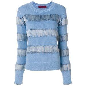 NWOT Sies Marjan Zaylee satin stripe sweater L
